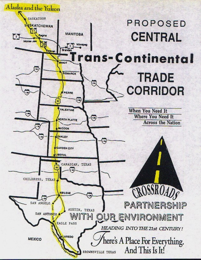 NAFT Trade corridor high speed rail map
