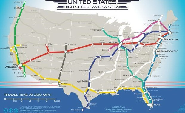 2013 OBAMA HIGHSPEED RAIL MAP