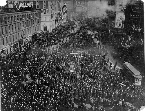 Times Square 1908 START OF THE GREAT RACE